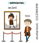 opposite word of ancient new... | Shutterstock .eps vector #1212584398