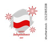 happy poland independence day... | Shutterstock .eps vector #1212585208