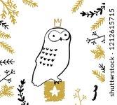 christmas advent calendar with... | Shutterstock .eps vector #1212615715