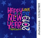 happy new year 2019 retro... | Shutterstock .eps vector #1212627805