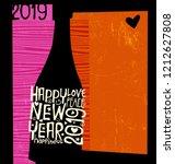 happy new year 2019 design....   Shutterstock .eps vector #1212627808