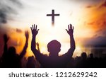 christmas concept  worship and... | Shutterstock . vector #1212629242
