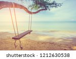 vintage tone image of swing...   Shutterstock . vector #1212630538
