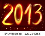 2013 new year. figures on a... | Shutterstock .eps vector #121264366