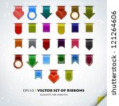 collection of various ribbons | Shutterstock .eps vector #121264606
