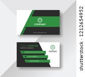 creative business card with... | Shutterstock .eps vector #1212654952