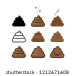 set of vector flat icons shit.... | Shutterstock .eps vector #1212671608