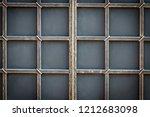 wrought iron gates  ornamental... | Shutterstock . vector #1212683098