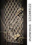 wrought iron gates  ornamental... | Shutterstock . vector #1212683122