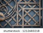 wrought iron gates  ornamental... | Shutterstock . vector #1212683218