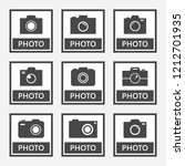 photo digital camera icons and... | Shutterstock .eps vector #1212701935