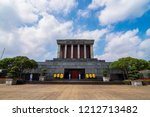 The ho chi minh mausoleum in...