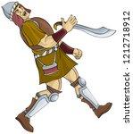 cartoon scene with soldier... | Shutterstock .eps vector #1212718912