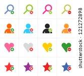16 web pictogram color set....
