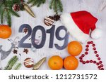 christmas layout with numbers... | Shutterstock . vector #1212731572