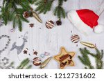 christmas layout with copy... | Shutterstock . vector #1212731602