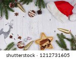 christmas layout with copy... | Shutterstock . vector #1212731605