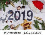 christmas layout with numbers... | Shutterstock . vector #1212731608