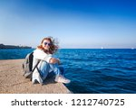 happy beautiful young woman in... | Shutterstock . vector #1212740725