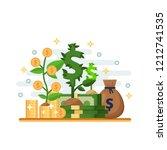 investment  development and... | Shutterstock .eps vector #1212741535