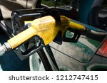 refill and filling oil gas fuel ... | Shutterstock . vector #1212747415