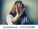 woman victim suffering from... | Shutterstock . vector #1212750088