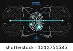 finger print scanning... | Shutterstock .eps vector #1212751585