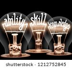 photo of light bulbs with... | Shutterstock . vector #1212752845