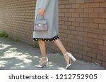 fashionable young woman wearing ... | Shutterstock . vector #1212752905