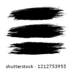 set of a black vector grunge... | Shutterstock .eps vector #1212753955