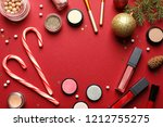 flat lay composition with... | Shutterstock . vector #1212755275