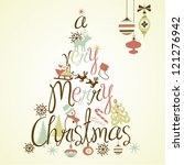 a very merry christmas tree... | Shutterstock .eps vector #121276942