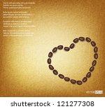 vector coffee grain against... | Shutterstock .eps vector #121277308