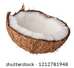 coconut isolated on white... | Shutterstock . vector #1212781948
