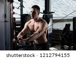 handsome muscular fitness... | Shutterstock . vector #1212794155