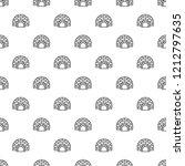 arctic igloo pattern seamless... | Shutterstock .eps vector #1212797635