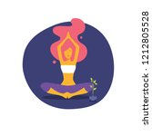 vector illustration of yoga... | Shutterstock .eps vector #1212805528