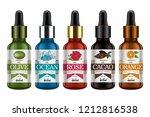 set of realistic glass bottles... | Shutterstock .eps vector #1212816538
