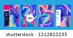 wavy colorful marble background ... | Shutterstock .eps vector #1212822235