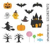 halloween icon set. | Shutterstock .eps vector #1212827872