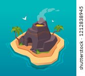 treasure map for game.... | Shutterstock .eps vector #1212838945
