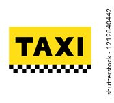 taxi icon sign  yellow taxi... | Shutterstock .eps vector #1212840442