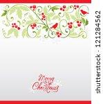 christmas background | Shutterstock .eps vector #121284562