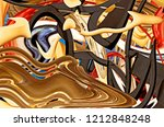 abstract composition. surreal... | Shutterstock . vector #1212848248