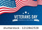 veterans day background vector... | Shutterstock .eps vector #1212862528