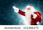 christmas theme with santa... | Shutterstock . vector #121286272