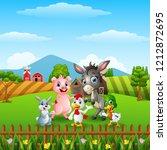 happy little animals in the farm | Shutterstock . vector #1212872695