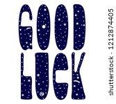 good luck   inscription.... | Shutterstock .eps vector #1212874405