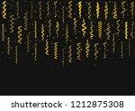 golden flying confetti... | Shutterstock . vector #1212875308
