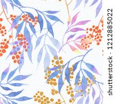 floral seamless pattern with... | Shutterstock . vector #1212885022
